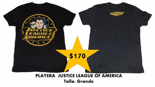 playera justice league of america