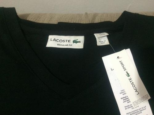 playera lacoste big crooc genuina... única en mercado libre