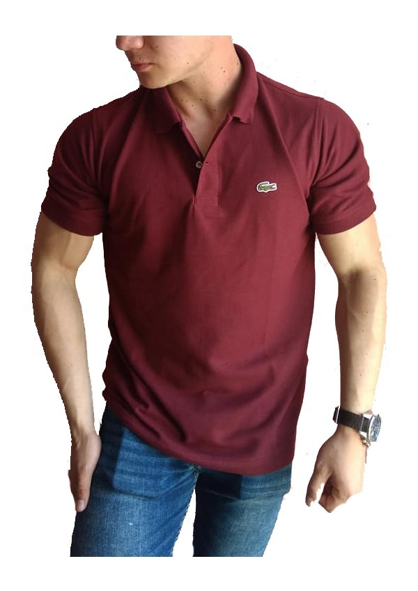 1f929aeb9cb8c Playera Lacoste Tipo Polo Color Vino Regular Fit -   399.00 en ...
