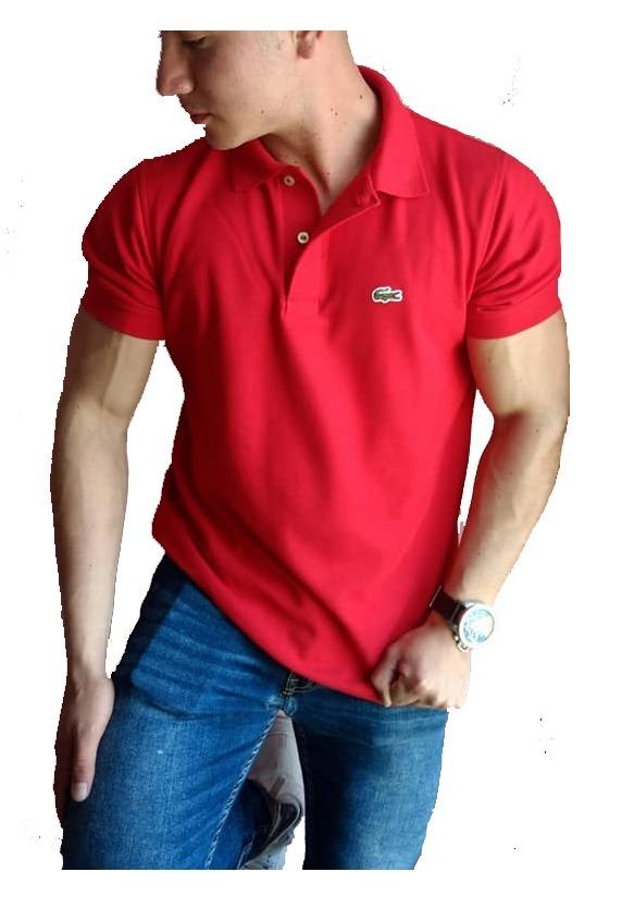 593ac1b75e4f1 Playera Lacoste Tipo Polo Color Roja Regular Fit -   399.00 en ...