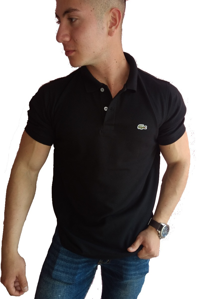 db8ecde05695d Playera Lacoste Tipo Polo Color Negra Regular Fit -   399.00 en ...