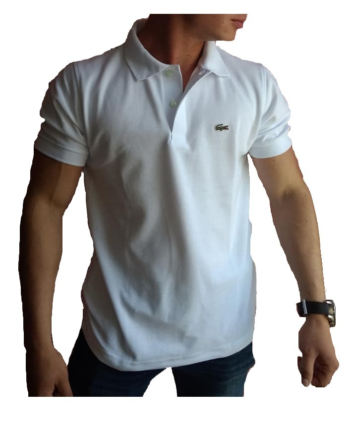 0fdfc10b146ed Playera Lacoste Tipo Polo Color Blanca Regular Fit -   399.00 en ...