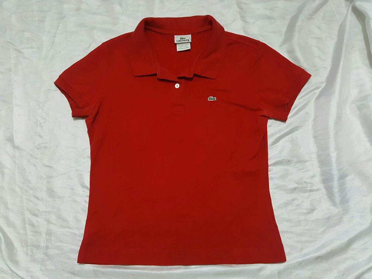 3d59d4464ac Playera Lacoste Tipo Polo Roja Chica -   299.00 en Mercado Libre