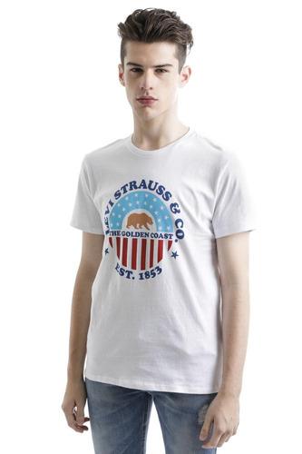 playera levi's® hombre blanca logo coast graphic tee mx