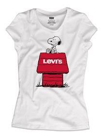 de calidad superior precio al por mayor bueno Playera Levi´s Snoopy Para Mujer