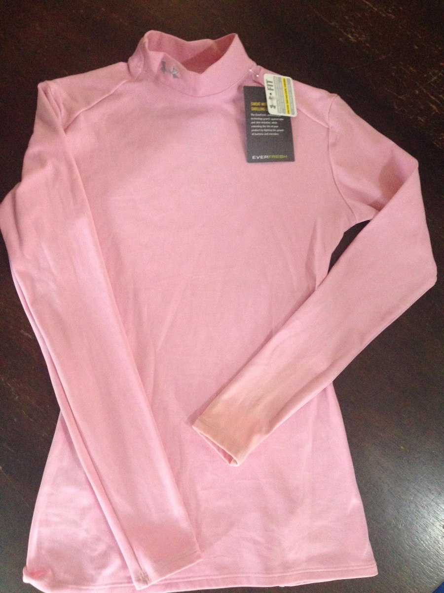 5f904d15bc712 Playera Licra Under Armour Mujer Rosa Heat Gear Ch !!!!!! -   390.00 ...