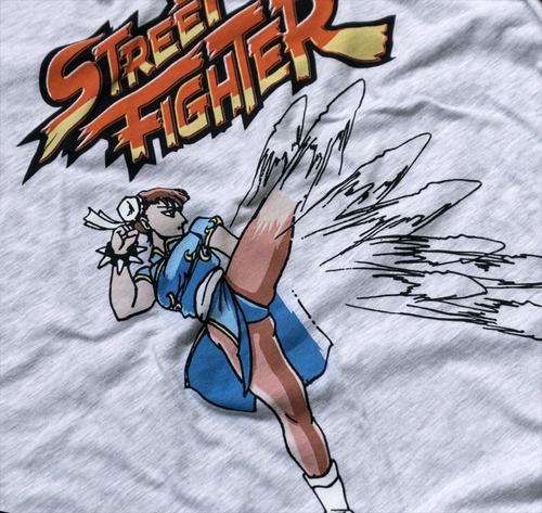 playera lightning kick mujer mascara de latex street fighter