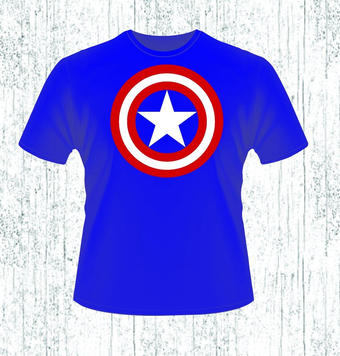 Playera Logo Capitán America -   150.00 en Mercado Libre 3059d00067d1c