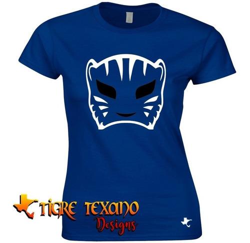playera lucha libre blue panther     by tigre texano designs