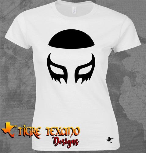 playera lucha libre cien caras m 19  by tigre texano designs