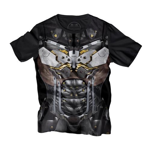 playera manga corta metal gear solid armadura raiden