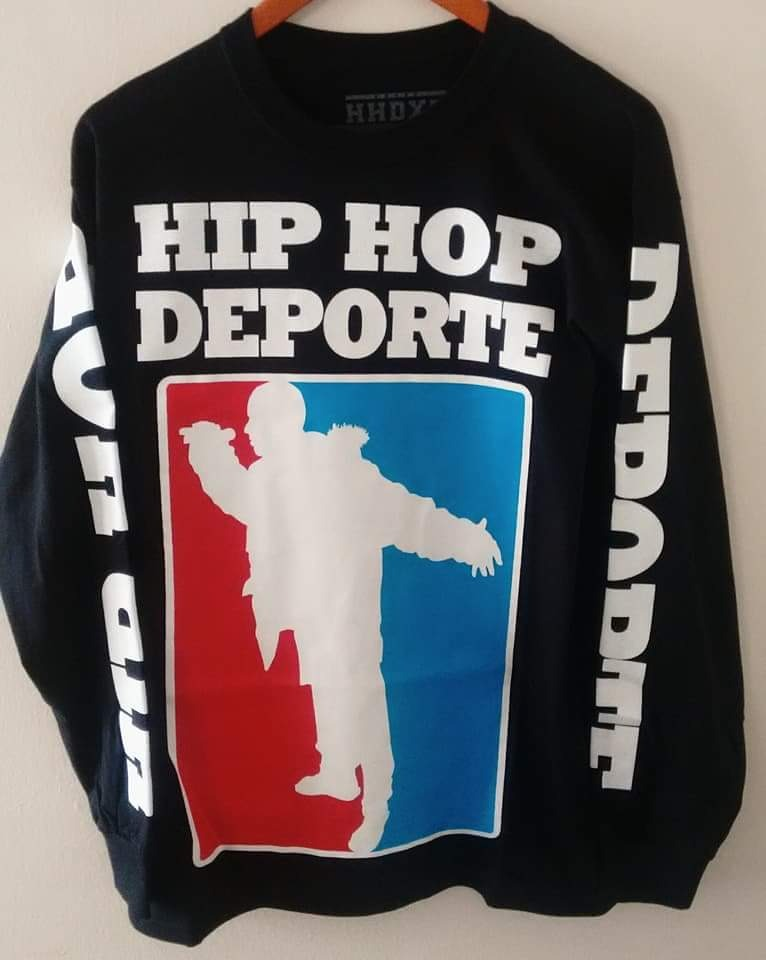 83f6b9bb76405 Hip Hop Deporte Oficial Playera Manga Larga Original. Aleman ...