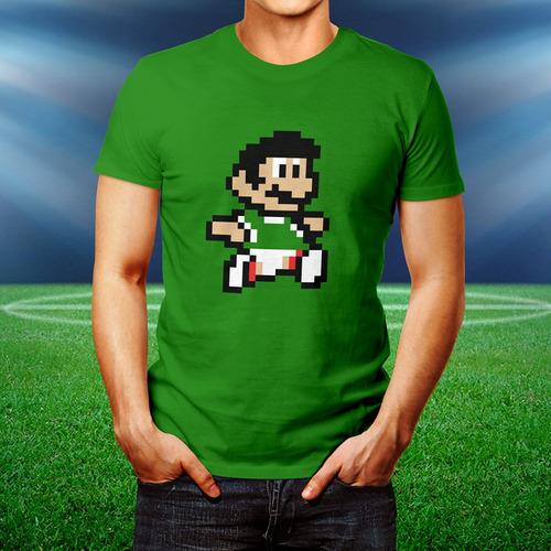 playera mario bros méxico pixel selección mexicana jersey
