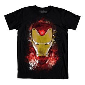 Playera Mascara De Latex Golden Avenger Avengers Endgame