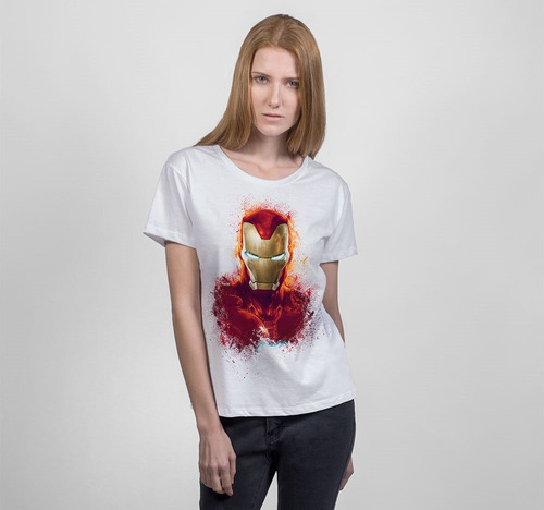 playera mascara de latex golden avenger mujer endgame