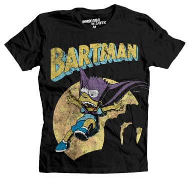 playera mascara de latex mod: bartman dama