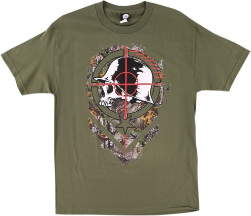 playera metal mulisha sight hombre man corta verd/neg/bco md