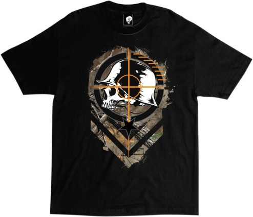playera metal mulisha sight hombre manga corta negro md