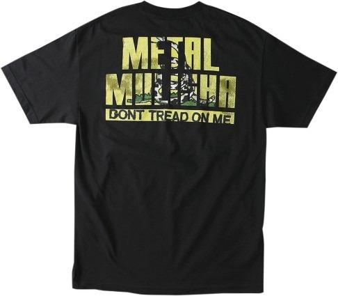 playera metal mulisha tread hombre manga corta negra/amar md