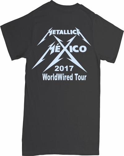 playera metallica worldwired tour mexico 2017 reflectante