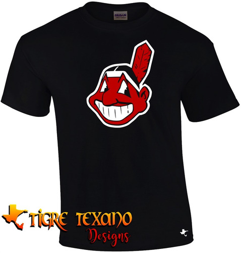 playera mlb indios cleveland mod e by tigre texano designs