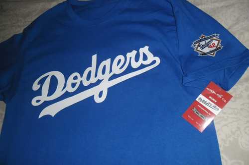 playera mlb los angeles dodgers jackie robinson vintage