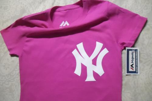 playera mlb new york yankees for women jersey