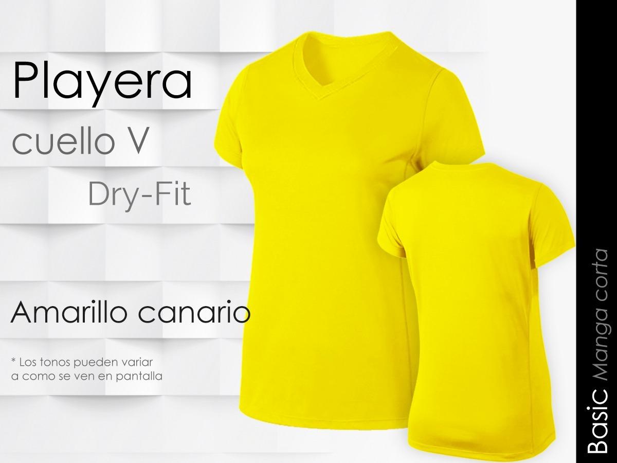 596e135884eb9 Playera Mujer Cuello V Manga Corta Dry Fit Basic -   230.00 en ...
