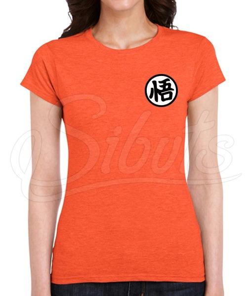Playera Mujer Diseño Kanji Goku Dragon Ball Varias Tallas -   180.00 ... 73496076150f0