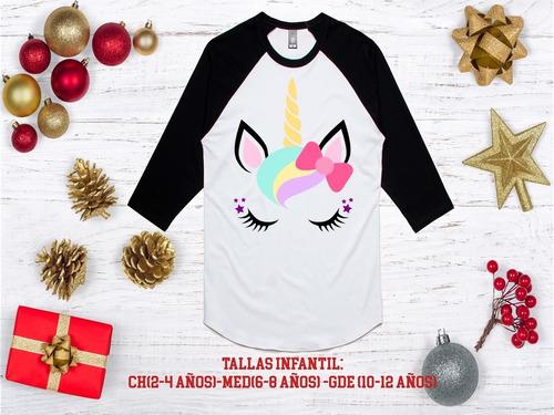 playera mujer  ranglan unicornio, agrega nombre gratis 12
