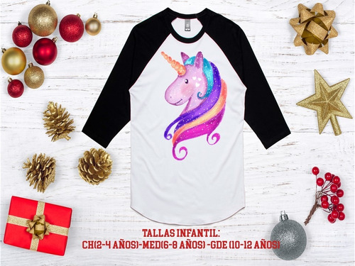 playera mujer  ranglan unicornio, agrega nombre gratis 13