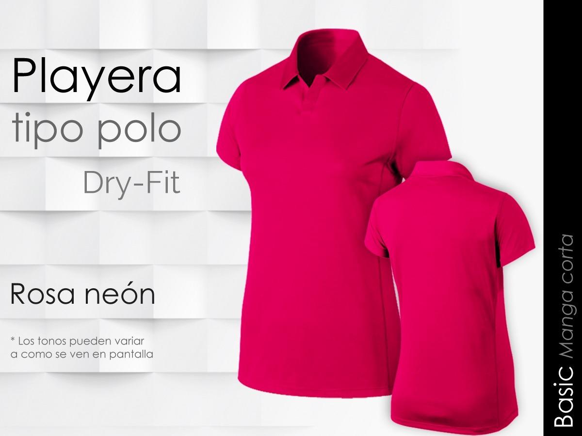 f601b444b28f5 Playera Mujer Tipo Polo Manga Corta Dry Fit Basic -   230.00 en ...