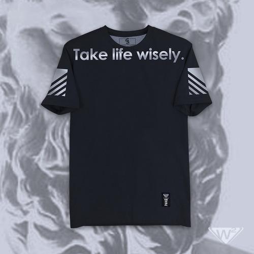 playera negra w2 mod. toma la vida sabiamente