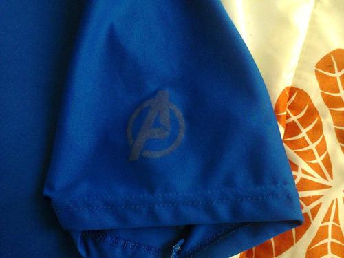playera new balance azul rey con impresion thor - avengers