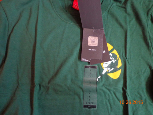 playera nike green bay packers nfl l