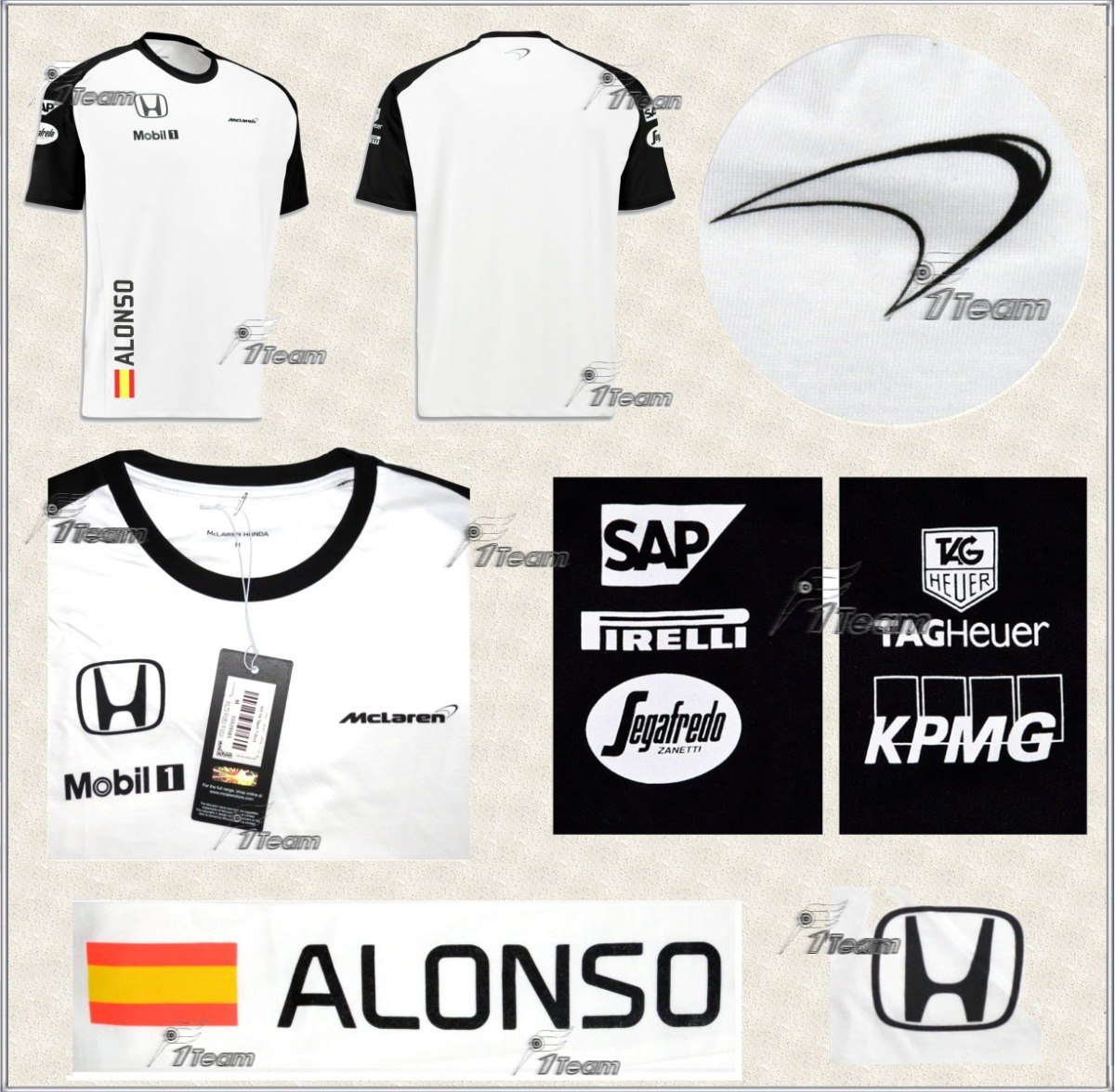 Playera Niño Mclaren Honda Fernando Alonso Producto Genuino ... 8891a59808b