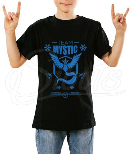 playera niño pokemon go diseño mystic team + sticker