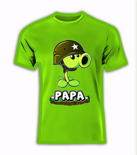 playera o camiseta personalizada plantas vs zombies 100% nva