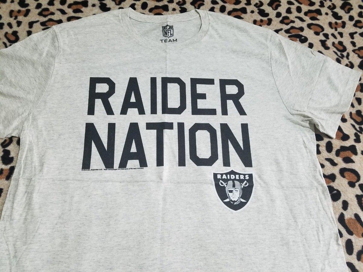 playera oakland raiders raider nation nfl oficial original. Cargando zoom. e11a68d01db