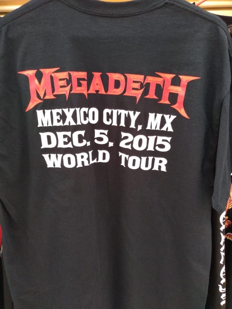 5b33a207e3c5f Playera Oficial Megadeth Tour Mexico 2015 -   300.00 en Mercado Libre