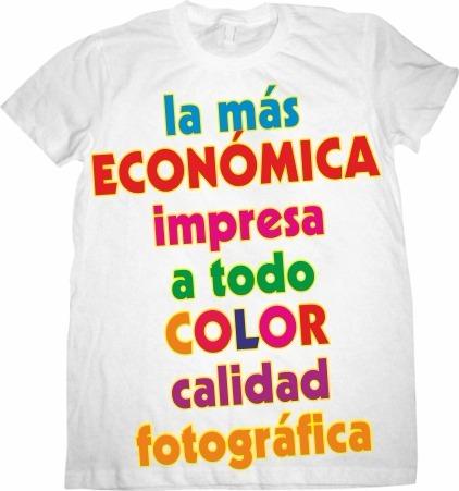 0bd0f40c8a410 Playera Para Campaña Economica Impresa A Color Desde 1 Pza -   55.00 ...