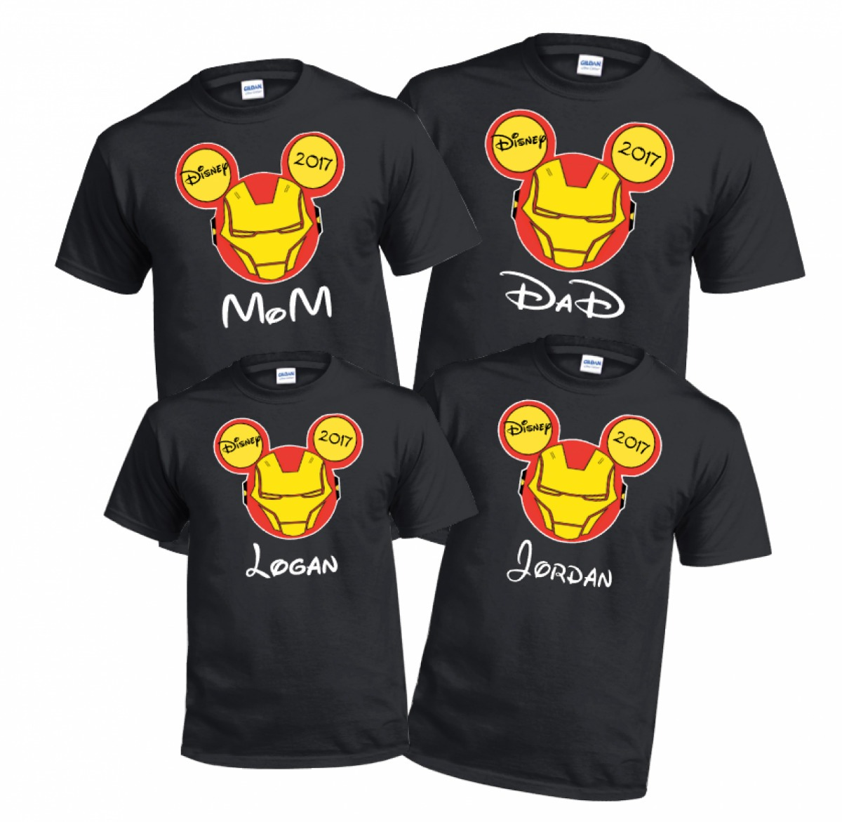 playera personalizada disney familia c nombr iron man mickey en mercado libre. Black Bedroom Furniture Sets. Home Design Ideas
