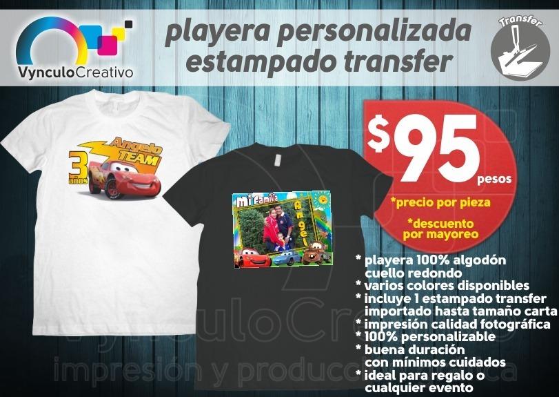 playera personalizada impresa a color estampado transfer. Cargando zoom. 4a89edf523546