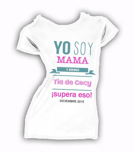 Playera Personalizada Maternidad Papa Mama Baby Shower