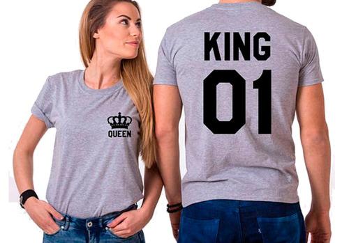 playera  personalizada para pareja king queen