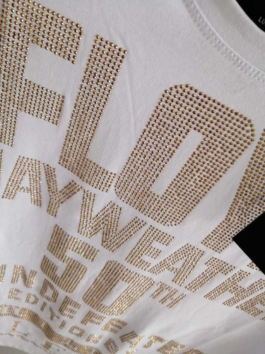 playera phillip plein x floyd mayweather letras doradas.