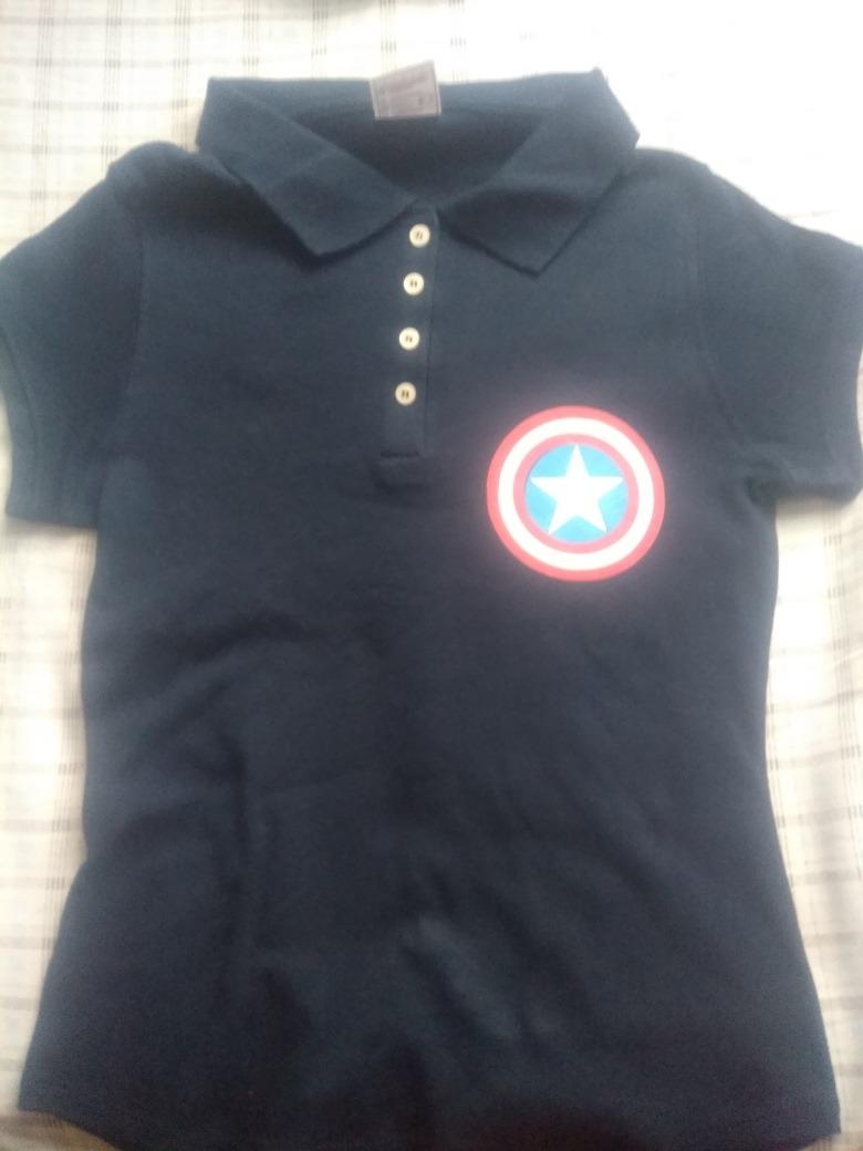 cac90763 playera polo capitan america niña, avengers, barata, bonita. Cargando zoom.