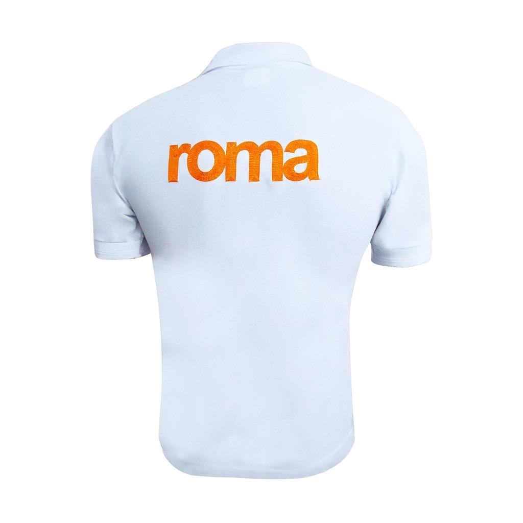 Playera polo casual caballero futbol as roma kappa blanco cargando zoom jpg  1024x1024 Polo blanco roma d1b757b3b6a3c