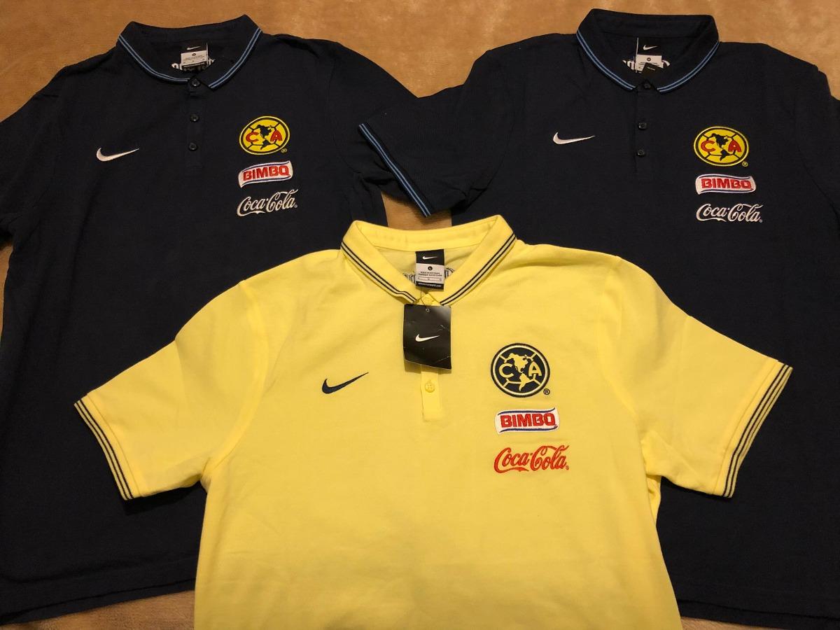 Playera Polo Club America Nike Utileria Original Mediana ... acfe0fc3d5b62