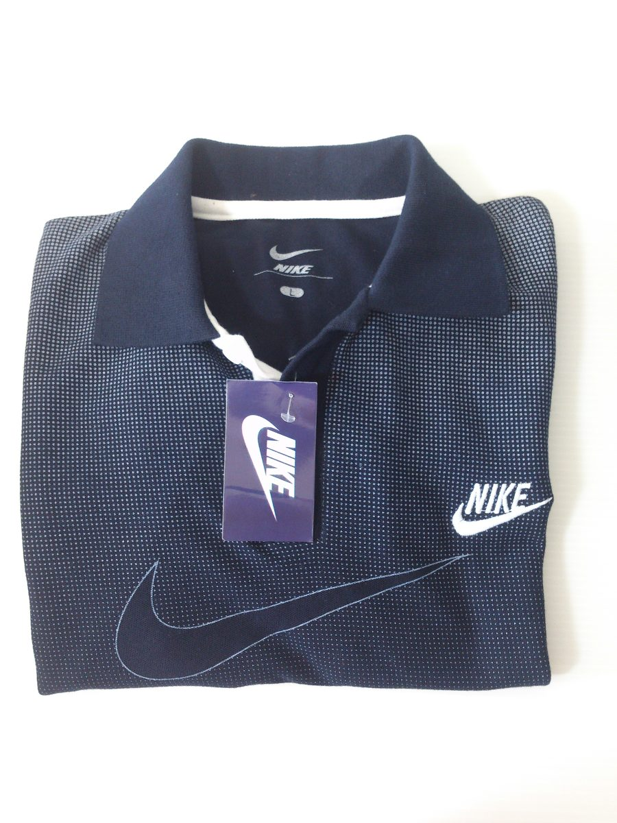 6d289a750a298 Camisa Playera Tipo Polo Nike Negro Y Gris Hombre Ropa -   350.00 en ...